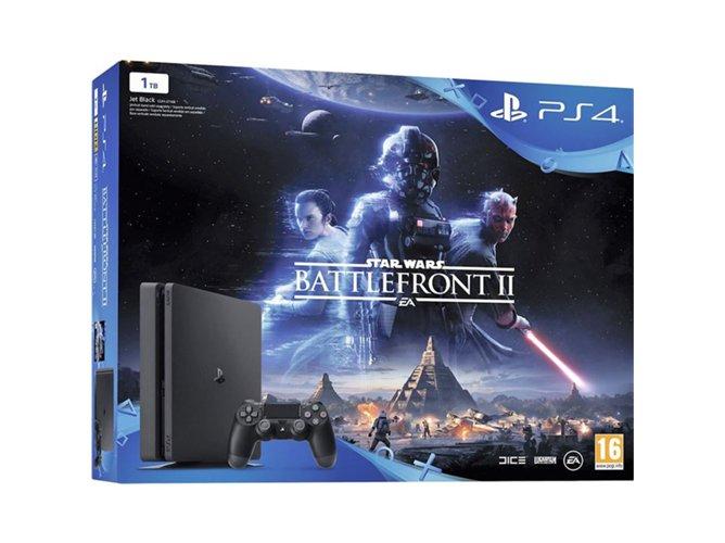 Consola Ps4 Slim 1 TB + Star Wars Battlefront II (con inalámbrico DUALSHOCK) ---- 299 €