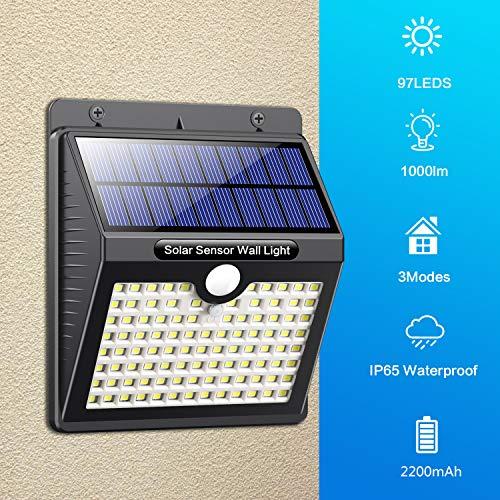 Pack 4 luces solares de exterior