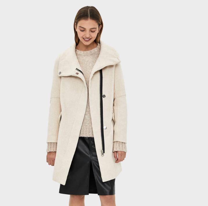 Abrigo de lana BERSHKA 3 colores