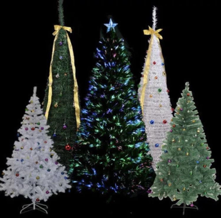 Árbol de Navidad 120cm Incluye Decoración Artificial de Fibra verde