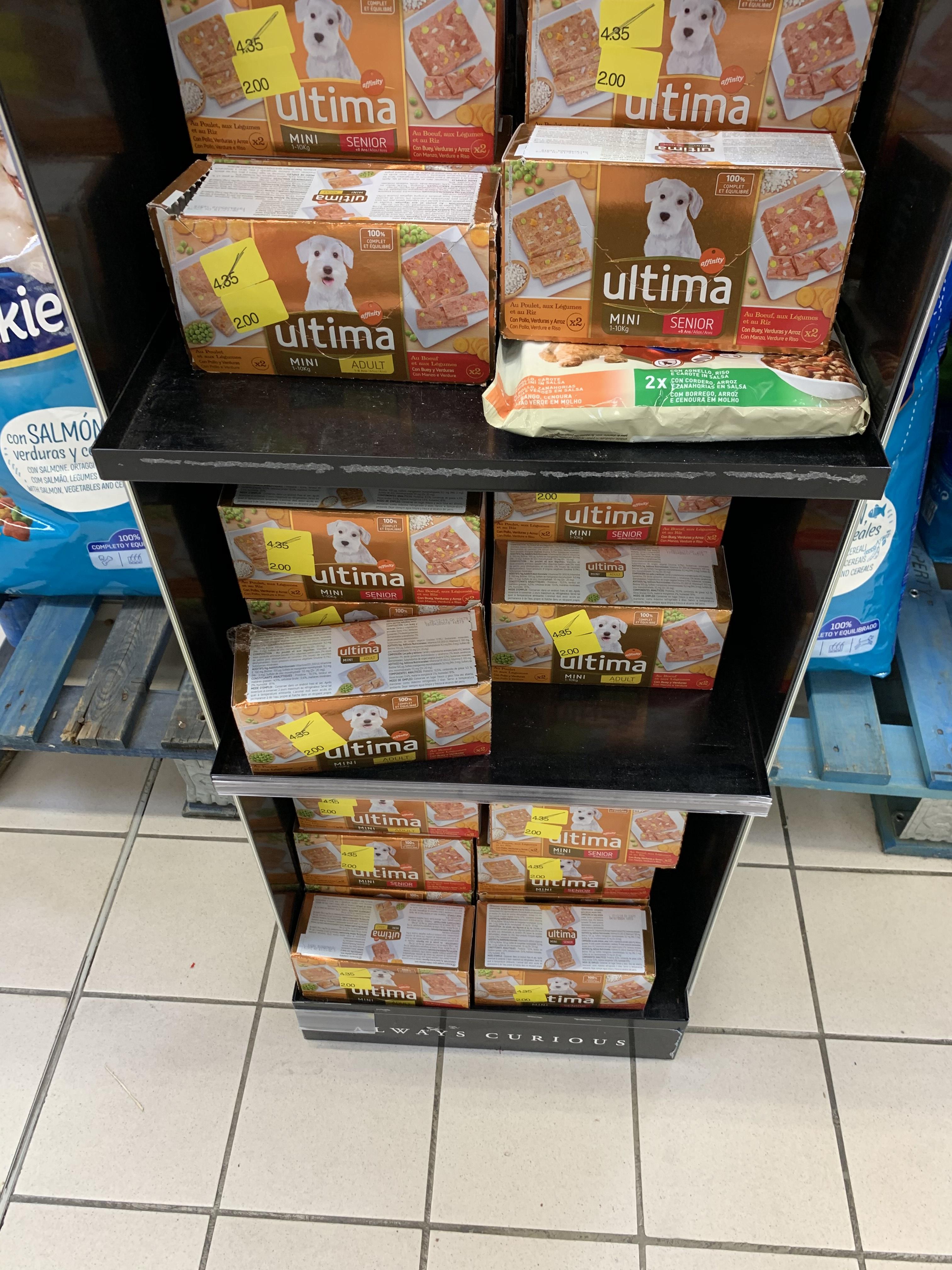 4 Patés para perritos Última (Carrefour Lorca, Murcia)