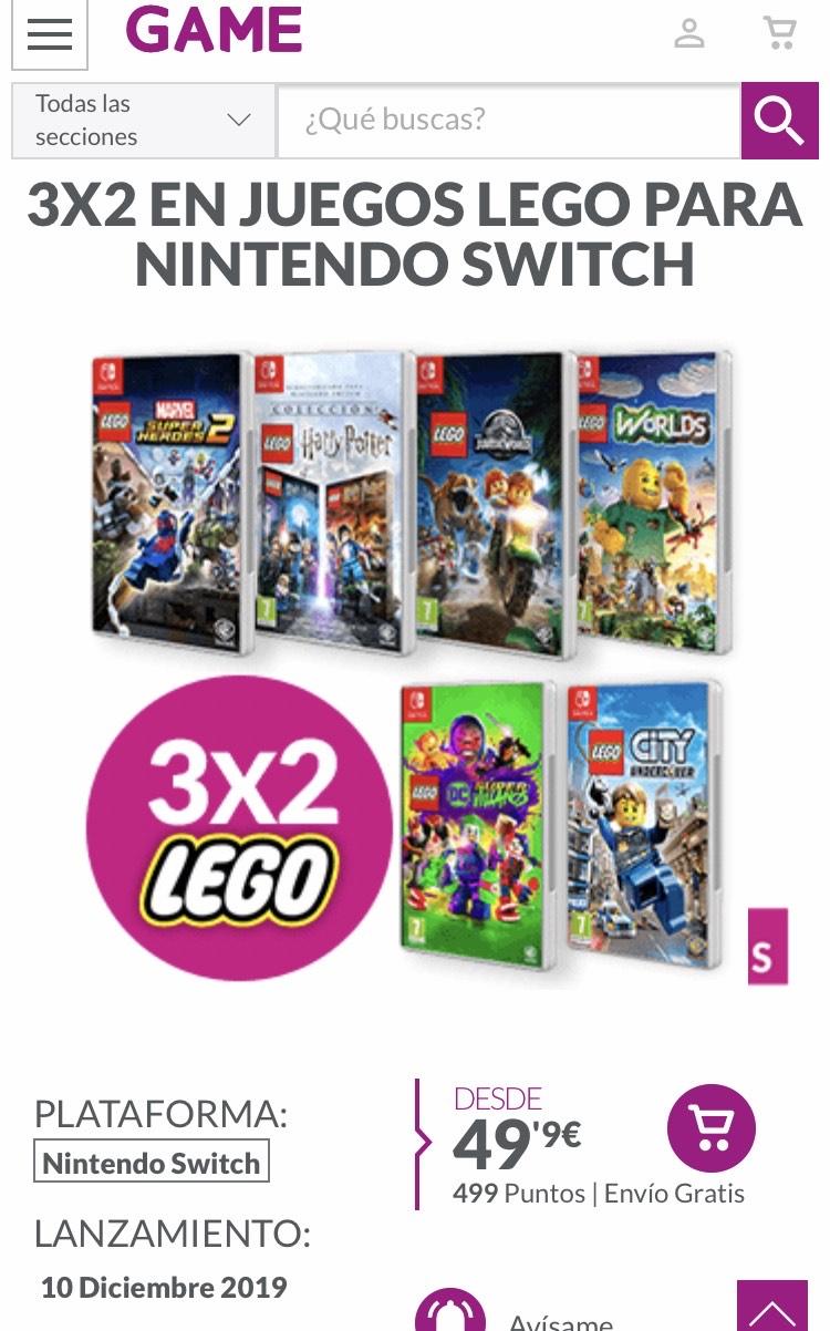 Juego lego para nintendo switch 3 x 2 en Game