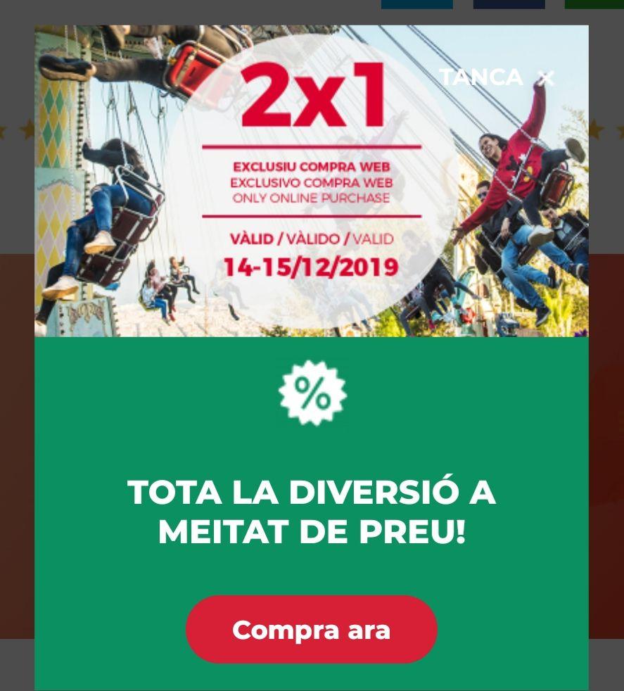 2x1 TIBIDABO 14-15 DICIEMBRE COMPRA ONLINE
