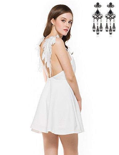Conjunto de Vestido corto con motivos alados