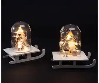 Trineo navideño con luz LED en Alcampo de Vigo y Villagarcía de Arosa