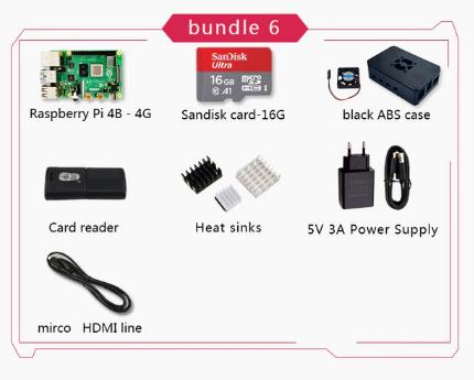 Raspberry 4B de 4GB + accesorios