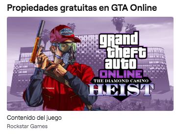 Propiedades Gratis en Grand Theft Auto Online con Twitch Prime