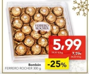 Ferrero Rocher 24 Piezas 300g