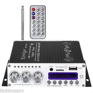 Amplificador Bluetooth 20w x 2 (con mando a distancia, usb, microsd...)