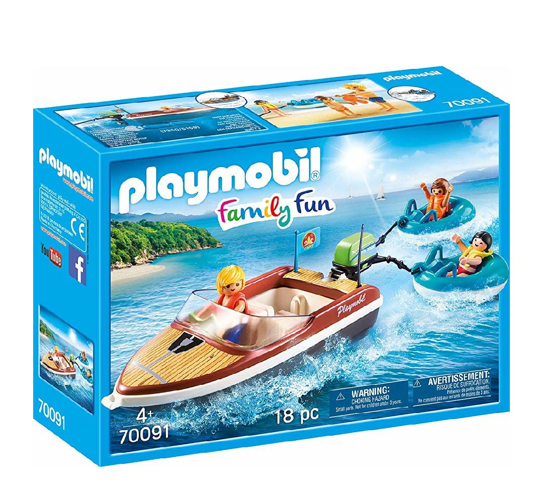 Playmobil family fun. Lancha con flotadores.