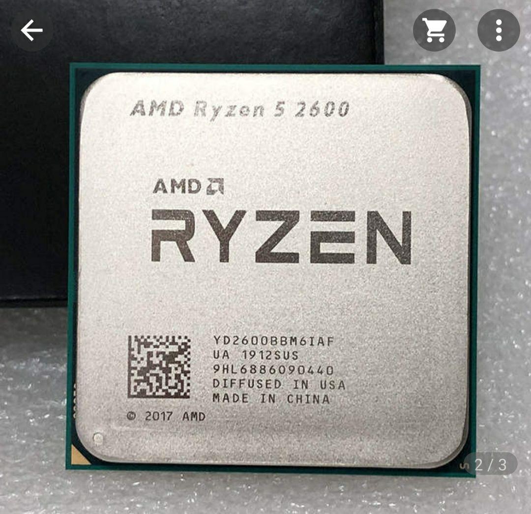 AMD Ryzen 5 2600 R5 2600 de 3,4 GHz Six-Core 12-Hilo de procesador de CPU Socket AM4 65W . NUEVO !