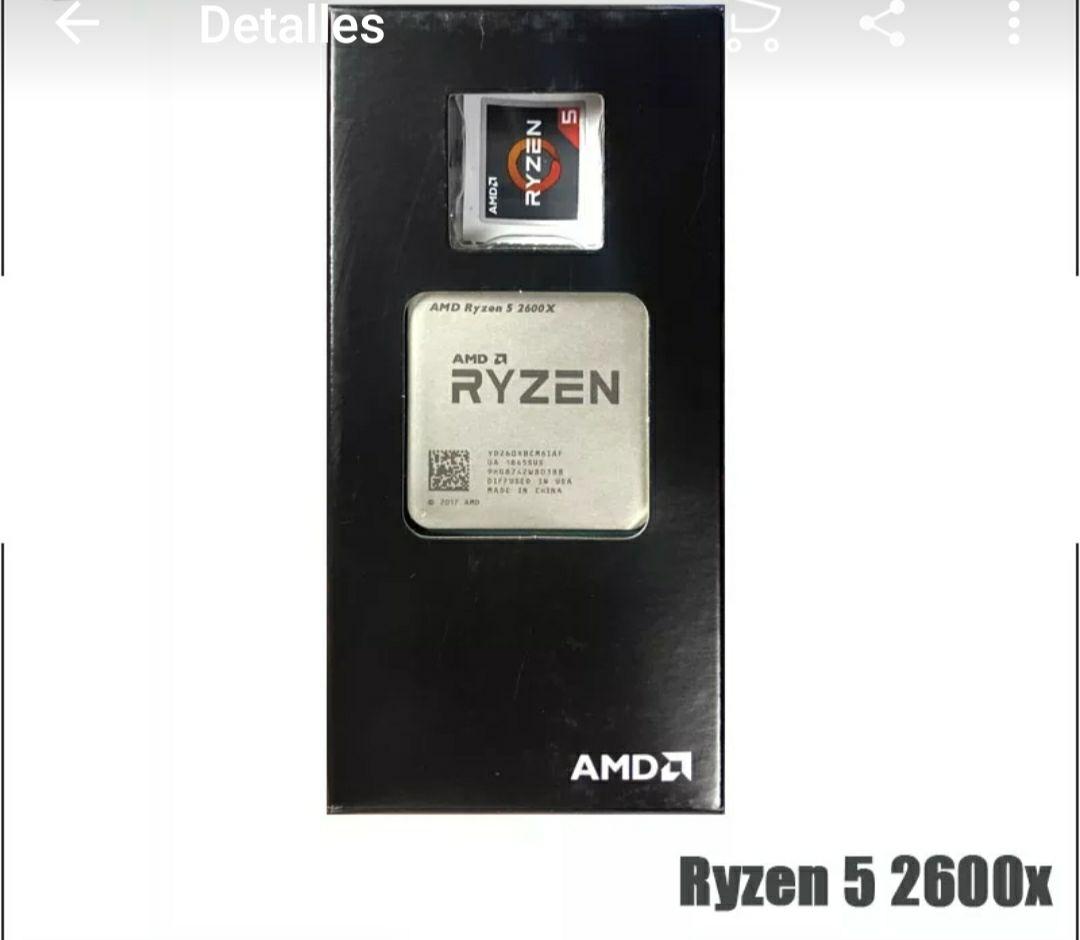 AMD Ryzen 5 2600X R5 2600X3,6 GHz Six-Core 12-Hilo de procesador de CPU L2 = 3M L3 = 16M 95W YD260XBCM6IAF hembra AM4. NUEVO !