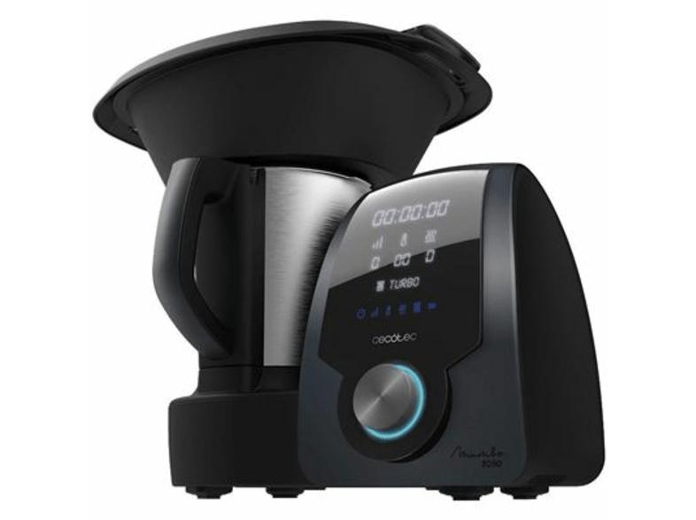 Robot de cocina - Cecotec Mambo 8090, 1700 W, 3.3 litros, 30 funciones, Acero Inoxidable, Negro