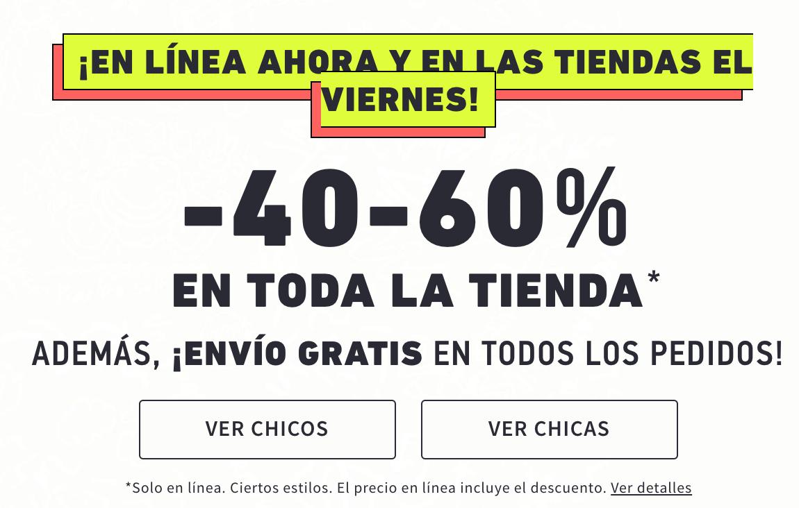 40%/60% HOLLISTER en TODA la TIENDA