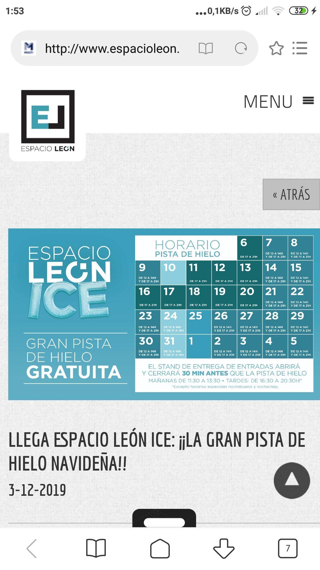 LLEGA ESPACIO LEÓN ICE: ¡¡LA GRAN PISTA DE HIELO NAVIDEÑA
