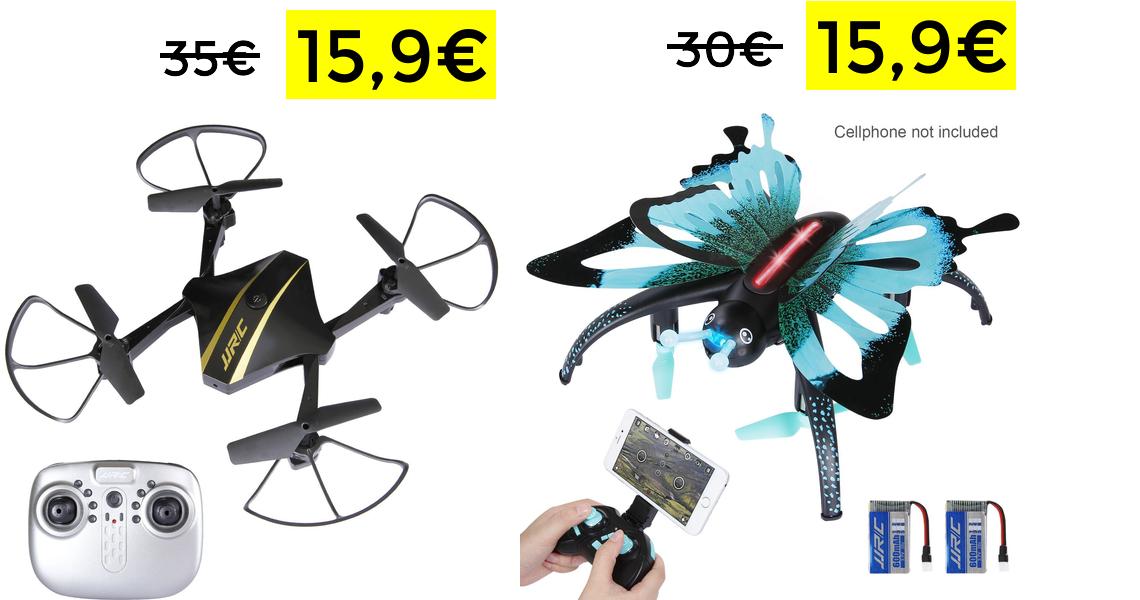 Drone JJRC FPV + 2 baterías solo 15.9€