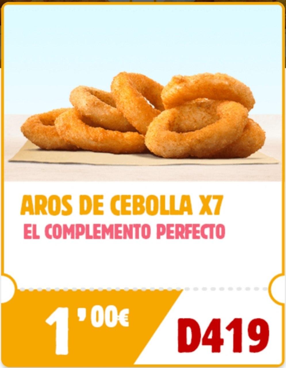 7 aros de cebolla a 1€