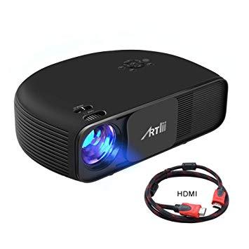 """Artlii Proyector HD Ready, 3200 Lúmenes, Consigue una Imagen de 120"""", Soporte 1080P & 2 x HDMI."""