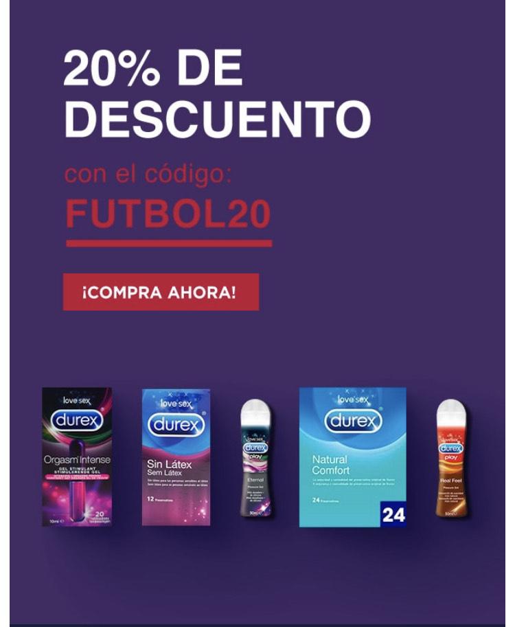20% de dto en Durex!