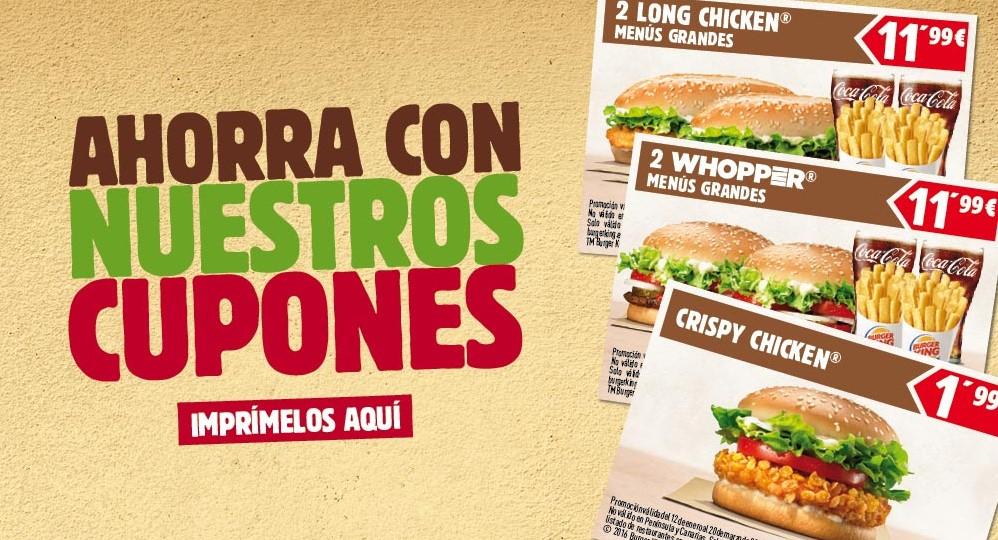 Cupones de abril de Burger King