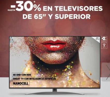 """30% en televisores de 65"""" - El Corteingles"""