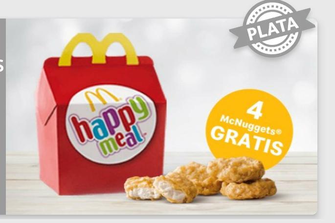 4 Nuggets Gratis con tu Happy meal (cuentas seleccionadas)