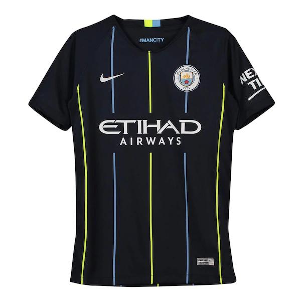 Camiseta Stadium de la equipación visitante del Manchester City 2018-19 para niños
