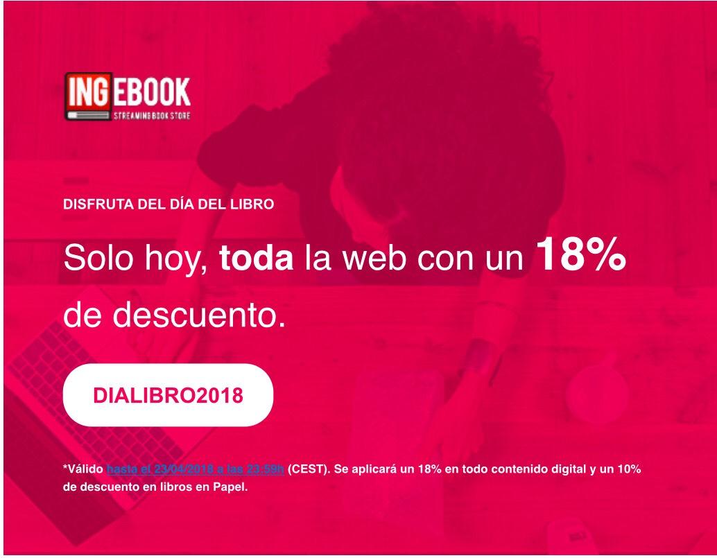 Día del libro: -18% Dto. en Toda la web de INGEBOOK. Libros universitarios y profesionales online