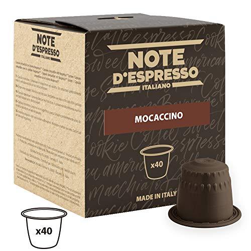 Note D'Espresso - Cápsulas de mochaccino instantáneo, 4,3 g (caja de 40 unidades)