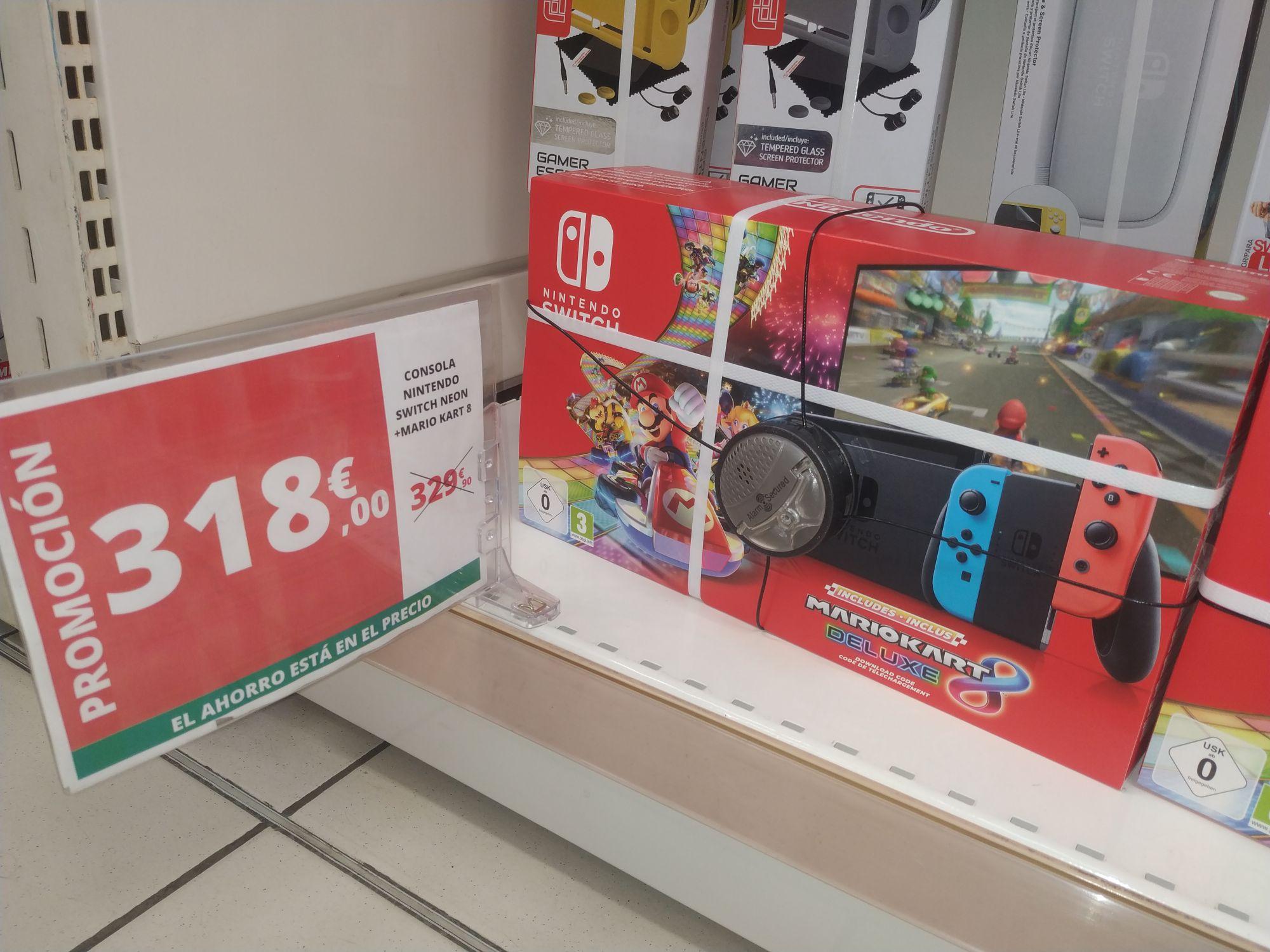 Buen precio para Nintendo Switch Neon + Mario Kart (Alcampo Castellón)