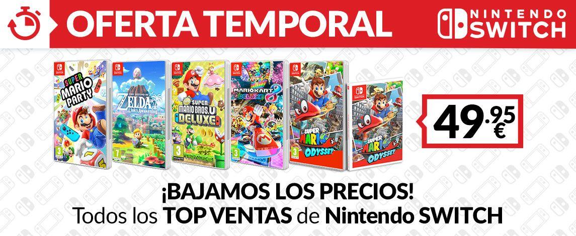 Juegos Nintendo switch top ventas en Game a 49,95