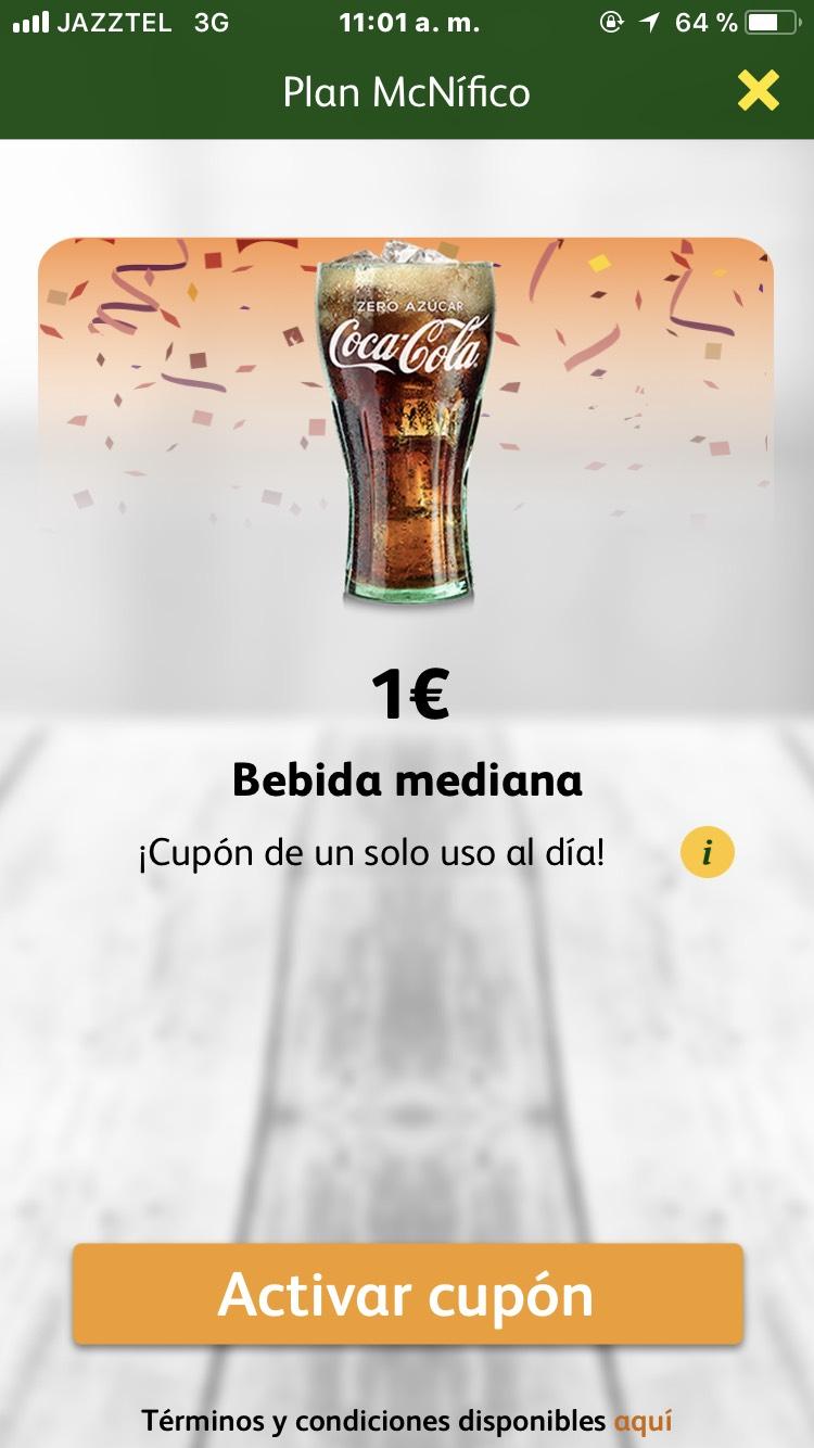 Bebida mediana 1€