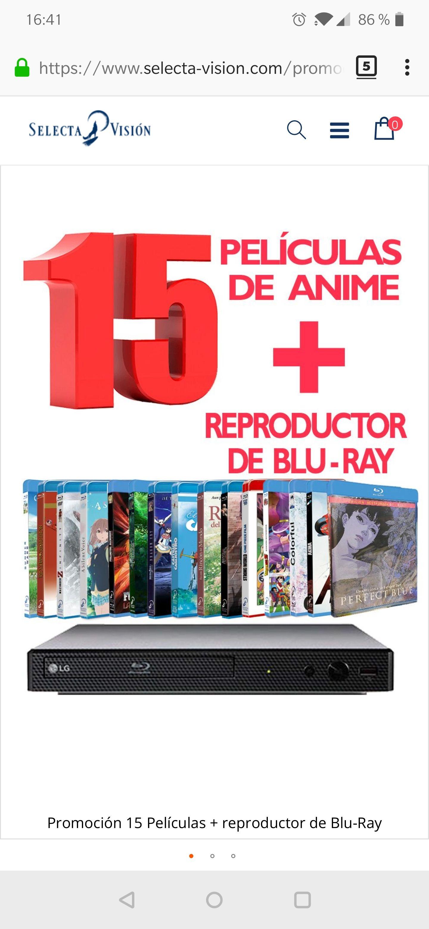 Promoción 15 Películas BluRay +Reproductor a 150€!!