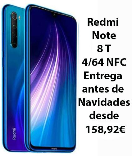 Xiaomi Redmi Note 8T NFC 4/64 entrega antes Navidades