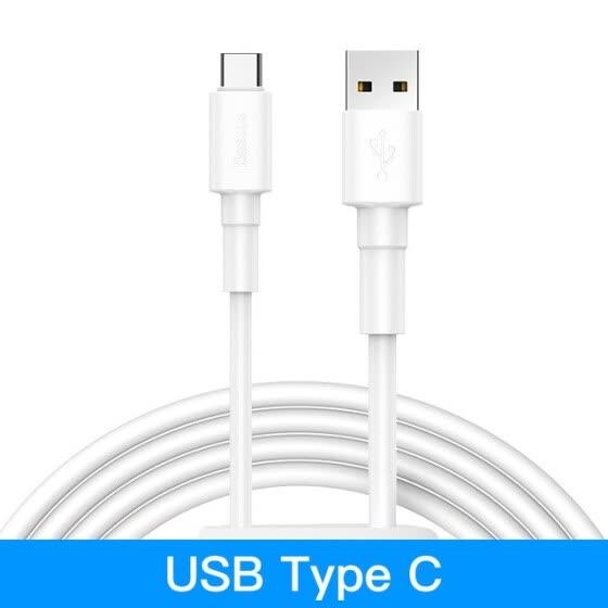 2 Cables Baseus Tipo C / Lightning / microUSB 1M por solo 0,52€