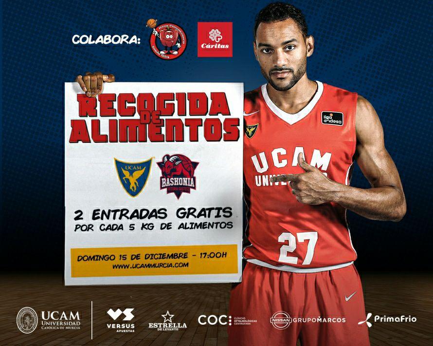 UCAM Murcia VS Kirolbet Baskonia (Basket) GRATIS por alimentos