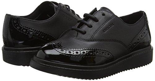 TALLA 28 - Geox J THYMAR Girl E, Zapatos de Cordones Oxford para Niñas
