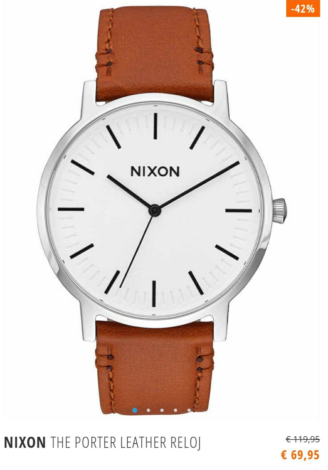 Reloj Nixon Porter Leather Blanco