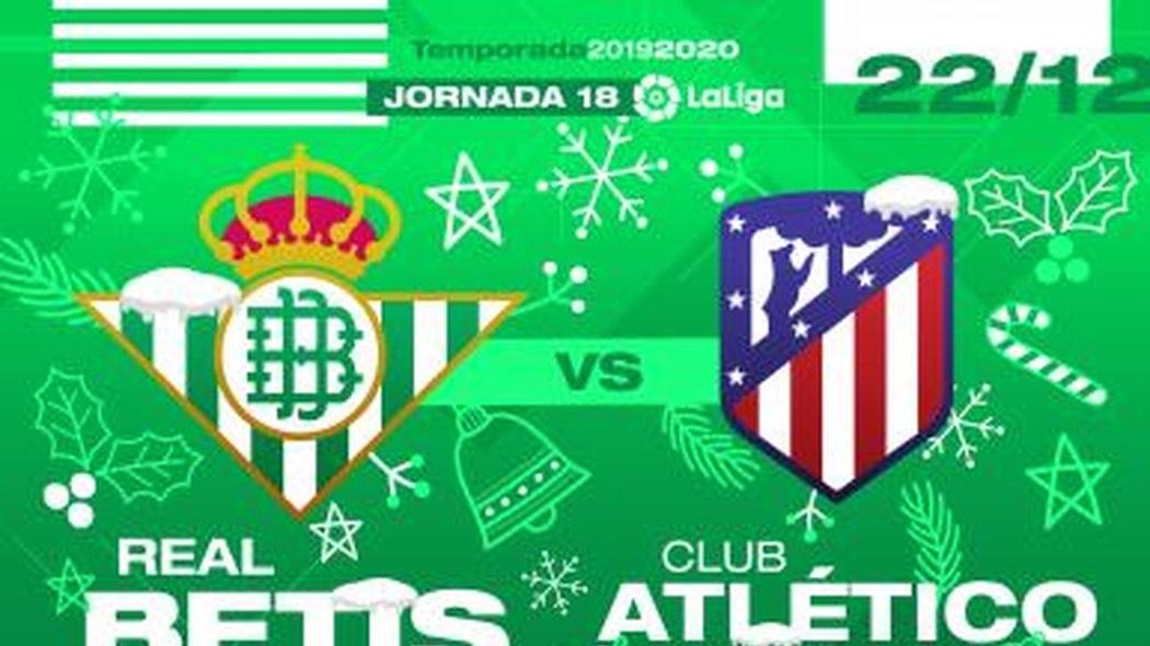 2 entradas para ver el Betis-Atlético del Madrid por 60€