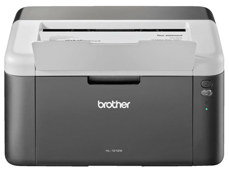 Impresora Láser Monocromo - Brother HL-1212W, WiFi, Impresión móvil