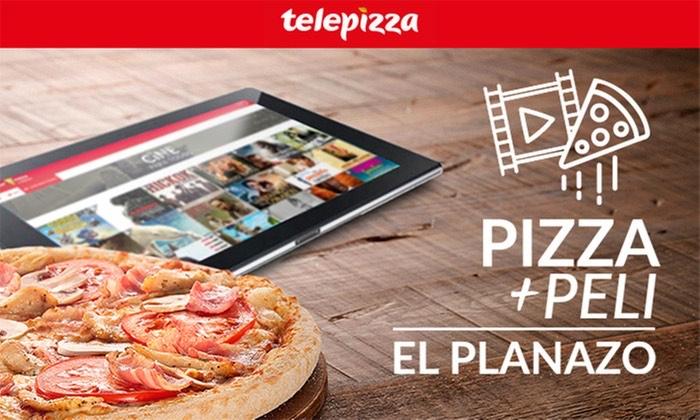 Telepizza mediana o especialidad y película