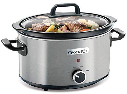 Olla de cocción lenta Crock-Pot SCV400RD de 3.5 litros de capacidad