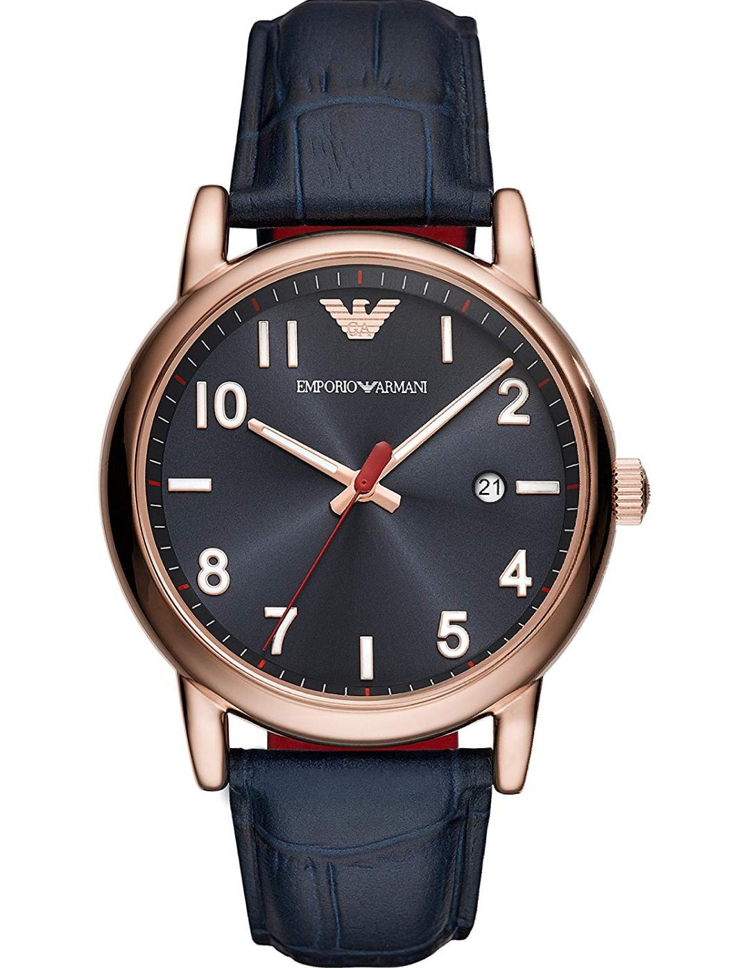 Reloj Emporio Armani Analógico para Hombre de Cuarzo con Correa en Cuero AR11135