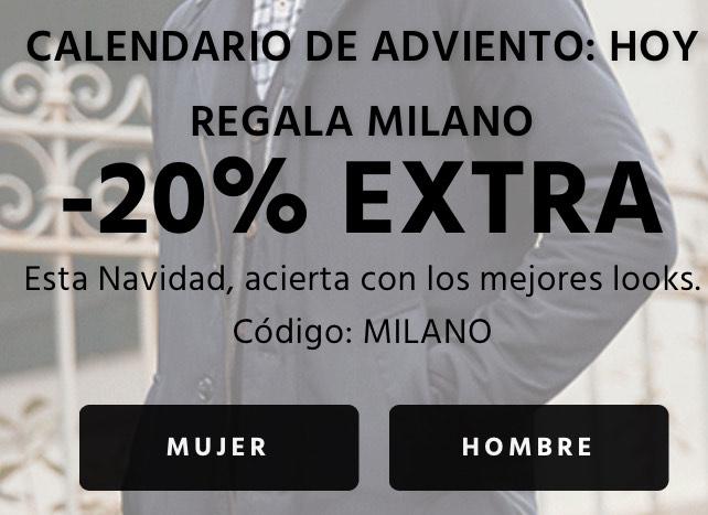 - 20% en el outlet de MILANO