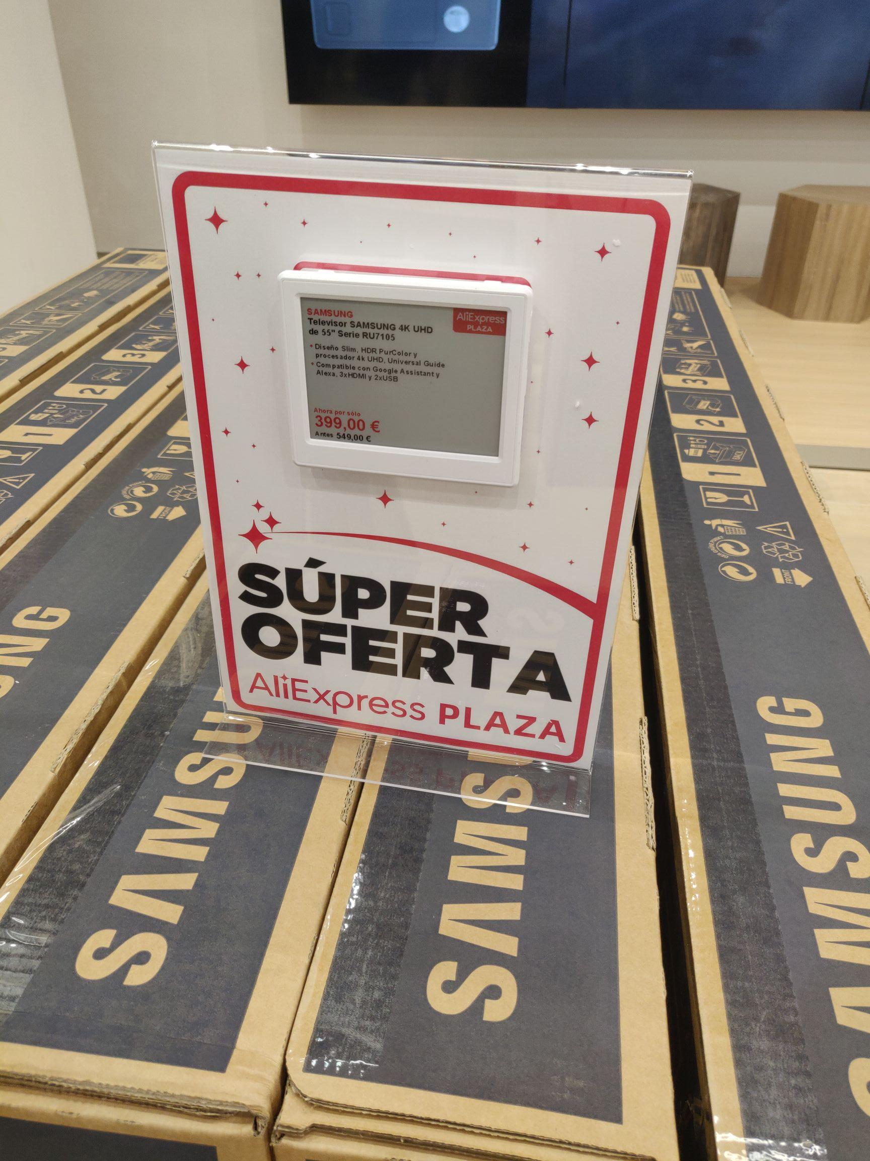 Televisor SAMSUNG 4K UHD 55' Serie RU7105 - 399 € (Aliexpress Plaza del CC de Finestrelles)