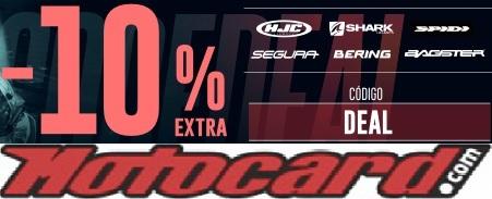 -10% HJC, Shark, Spidi, Bering, Segura y Bagster