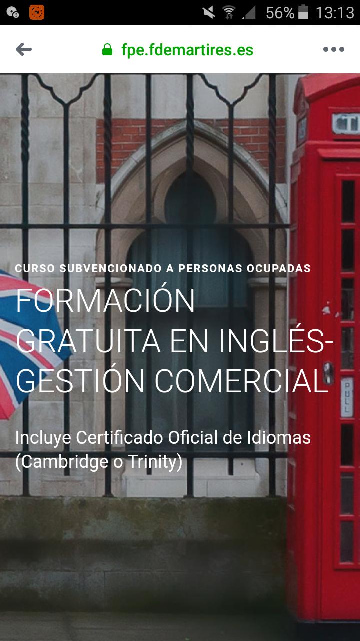 FORMACIÓN GRATUITA EN INGLÉS-GESTIÓN COMERCIAL