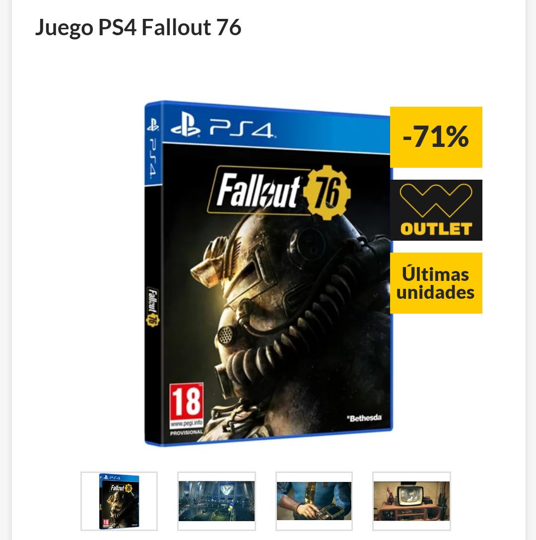 Fallout 76 para PS4