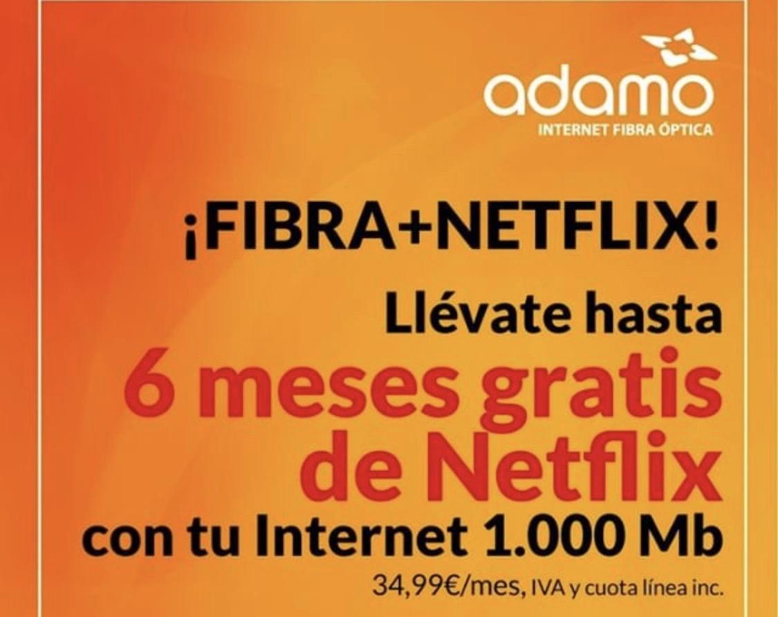 12 meses de fibra con 1000 en Adamo por 21,99€