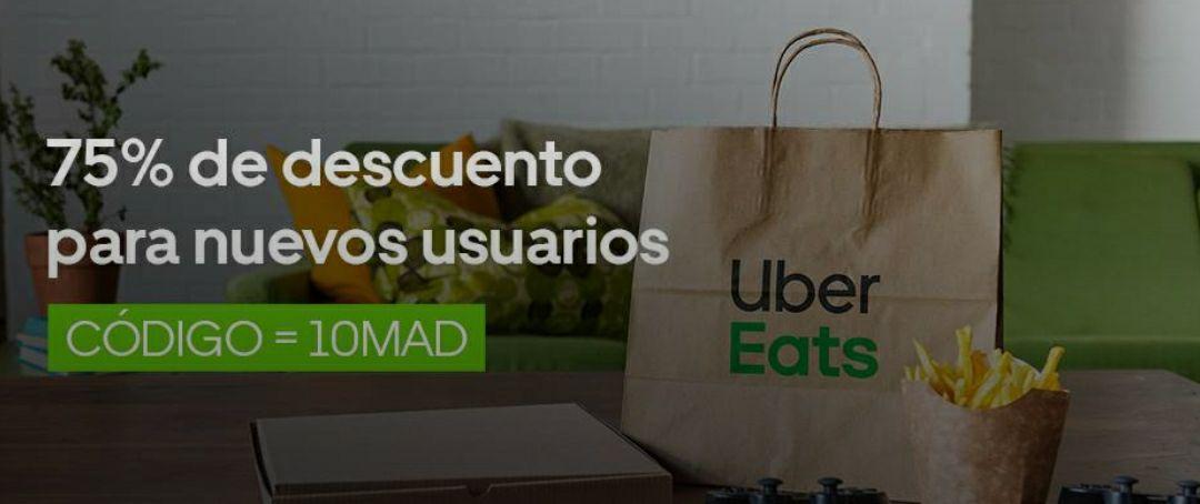 -75% Uber Eats con un máximo de 8€ (nuevos usuarios, Madrid)